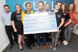 Cheque for £3k+ given to Anthony Nolan charity