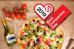 Best Companies Day pizza and prosecco party